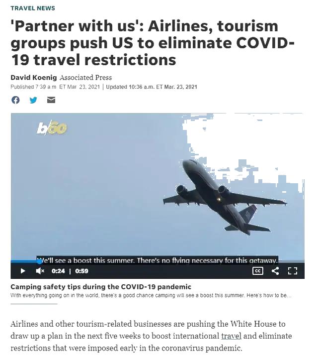 白宫或将在五一后取消对华旅行限制?超24个组织联名上书!