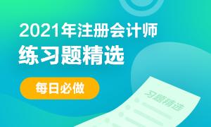 2021年注册会计师考试《财管》练习题精选(二十八)