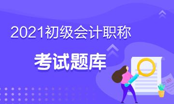 2021年天津市初级会计考试练习题库你需要吗?