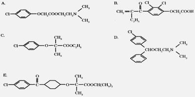 [药物化学]氯贝丁酯的结构为
